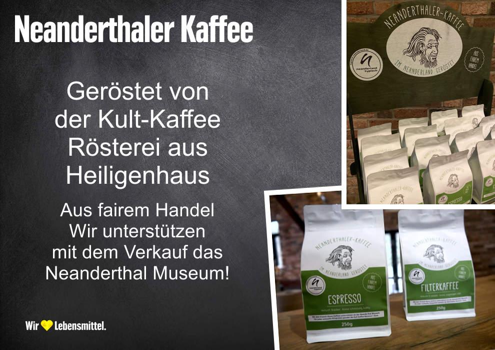 Aromatischer Neanderthaler Kaffee aus der Kult-Rösterei in Heiligenhaus